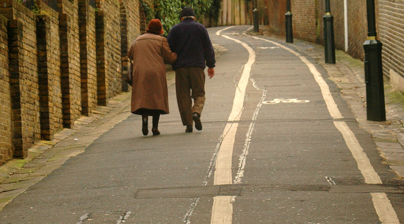 Old man and women